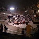 the great Theater Of Ephesus at night