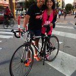 Clients participating in the Italy Ironman