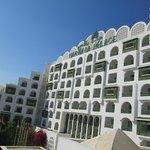 overlooking hotel