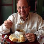 Ted and his French onion soup.
