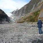 Franz Josef Glacier in the distance
