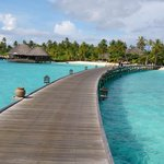 Path from water villas