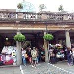 Cobble-stone square around the market building