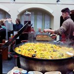 Paella being cooked