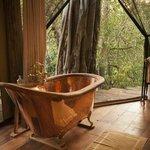 Mara Plains Camp - Bath with a  view