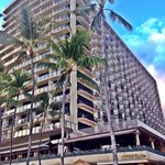 View of Outrigger from the beach