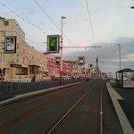 Pleasant Street Tram stop outside