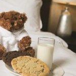 Milk & cookies delivered to children's doors at bedtime.