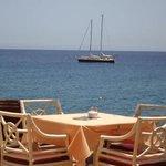 table at cafe la ola