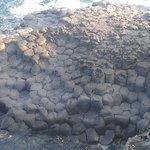 More local columnar volcanic lava rocks