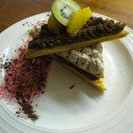 Millefeuille mousse chocolat banane