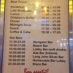 Restaurant times