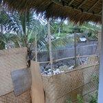Blick von unserer Terrasse auf Baustelle (Bungalow Nr. 5)