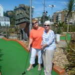 lovely game of crazy golf on Paignton seafront