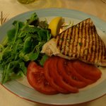 Swordfish with salad