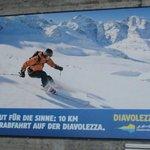 Billboard at Diavolezza