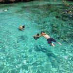 The snorkeling lagoon.