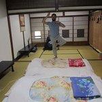 Very spacious room and a wannabe yogi