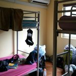 Tiniest dorm ever. The next morning you will wake up to the smell of sweat!