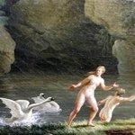 Jean HenryArles 1734-Marsiglia 1784) Leda e il cigno