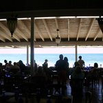 An incredible view of the ocean while you dine on some outstanding food!