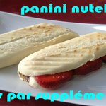 panini nutella fraises banane coco