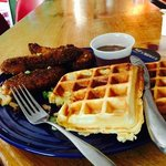 fried chicken and waffles....mmm