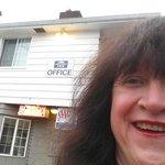 Me in front of Broadway Inn, Eugene, Oregon