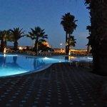 large pool night