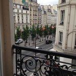 view from the 3rd floor looking onto Rue Rivoli