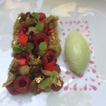 Dessert Framboise Pistache