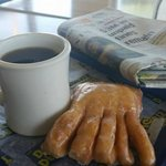 Daylight Donuts coffee and bear claw. Delicious!