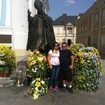 Estatua em homenagem ao Papa