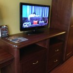 Nice TV and storage area