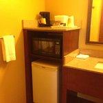 Microwave/fridge/bathroom basin