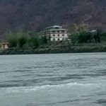 view of the hotel from Punakha
