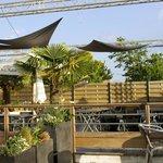 Sympa la terrasse ! Palmiers et soleil autour du barbecue