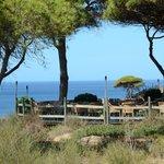 une terrasse près de la falaise