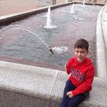 Outside fountain