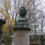 Надгробье писателя Бальзака