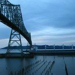 Tanker passing under the Astoria-Megler Bridge