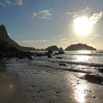 Final do dia na Praia do Cachorro