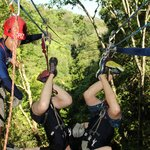 Who doesn't want to kiss their spouse upside down on a zipline?