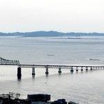 The Astoria-Megler Bridge from atop the column.