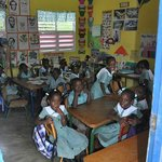 School children at Kendal School in Hanover Parish
