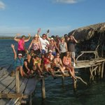 Our group at Floyd's Pelican Bar