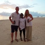 Us and Natalie at sunset