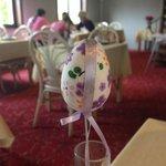 Sala do café da manhã - Estávamos na semana da Páscoa, e a decoração, alusiva à comemoração.