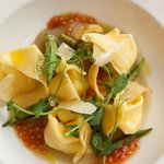 Goat cheese raviolli