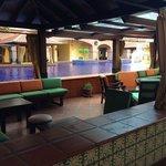 Cabana area at the lobby